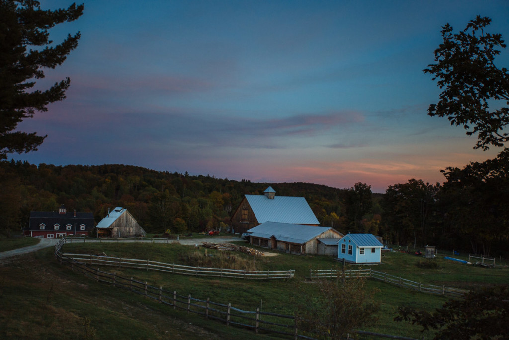 Galusha-Hill-Farm-Vermont-Destination-Dusk